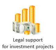 Legal support for investment projects